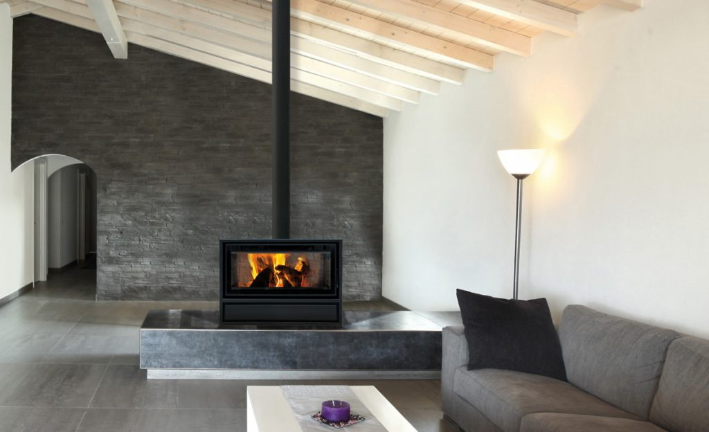 Double Sided Wood Burning Stove For Open Plan Rooms