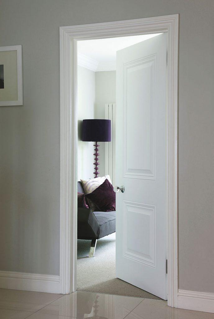 Kensington White 2 panel & Todd Doors offers sleek hidden intumescent seals on new Estates ...