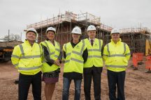 Pictured at the site in Church Lane, Hixon