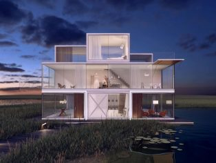 Innovative Tetris House