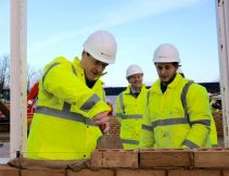 George Osborne, Jeff Fairburn CEO Persimmon and James Doyle Persimmon apprentice