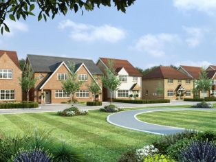 A computer generated image of new Redrow homes at St Nicholas Mews, Basildon.