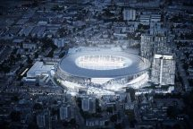 THFC - Night Aerial View - July 2015