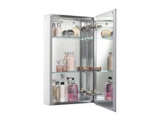 WC101269 Aluminium Cabinet 38 x 66cm propped