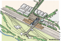 East Midlands hub station in context