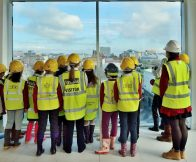 schoolgirls encouraged to think about construction
