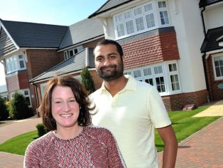 Michelle & Raj Oza in their Redrow Home