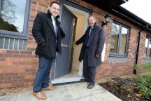 Woodhead Living and councillors celebrate the completion of five bungalows in Eastleigh Close