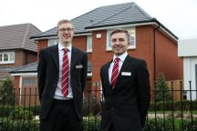 Redrow Midlands sales graduates Lewis Kavanagh & Jake Page