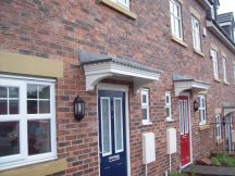 Door canopies from Canopies UK are popular with many large housebuilders