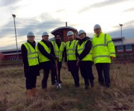 A ground-breaking ceremony was held at the site to mark the start of work