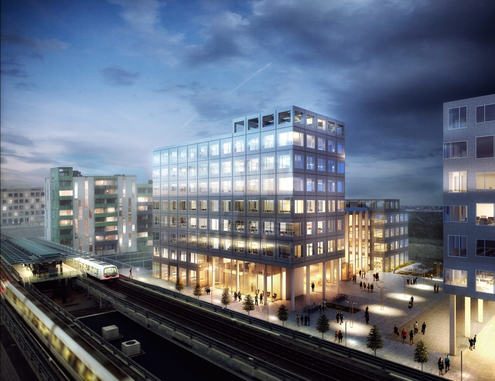 Skanska invests in the first phase of office project in for Amazon sweden office