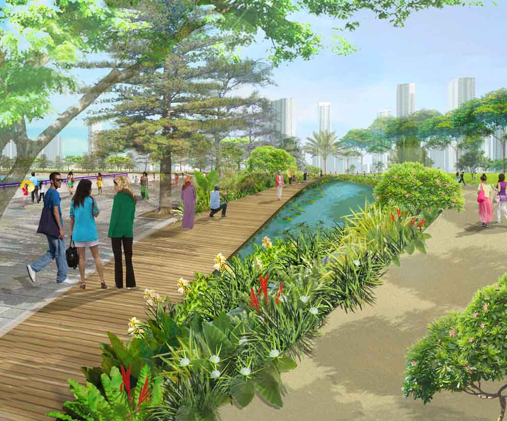 Grant Associates Behind Landscape Concept For Malaysian Waterfront