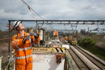 Upgrades to overhead wires at Chadwell Heath 201889