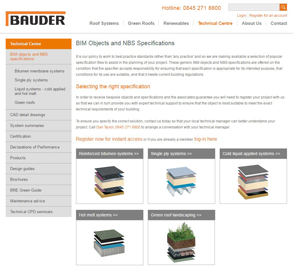 Flat Roof Manufacturer Bauder Extends Bim Library Netmagmedia Ltd