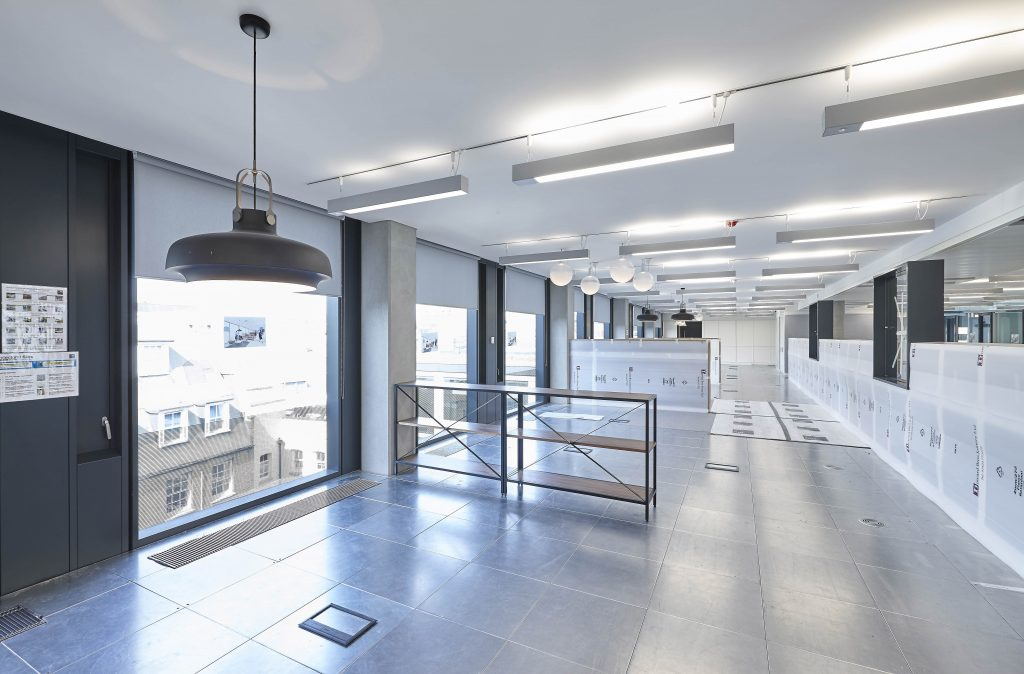 Rehau's largest installation in the uk of coolboard chilled ceiling