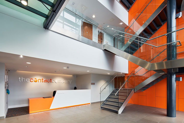 Orange Armstrong Ceilings Help The Sun Rise On A