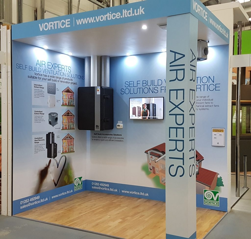 Vortice Exhibits At The Self Build Show May 2017