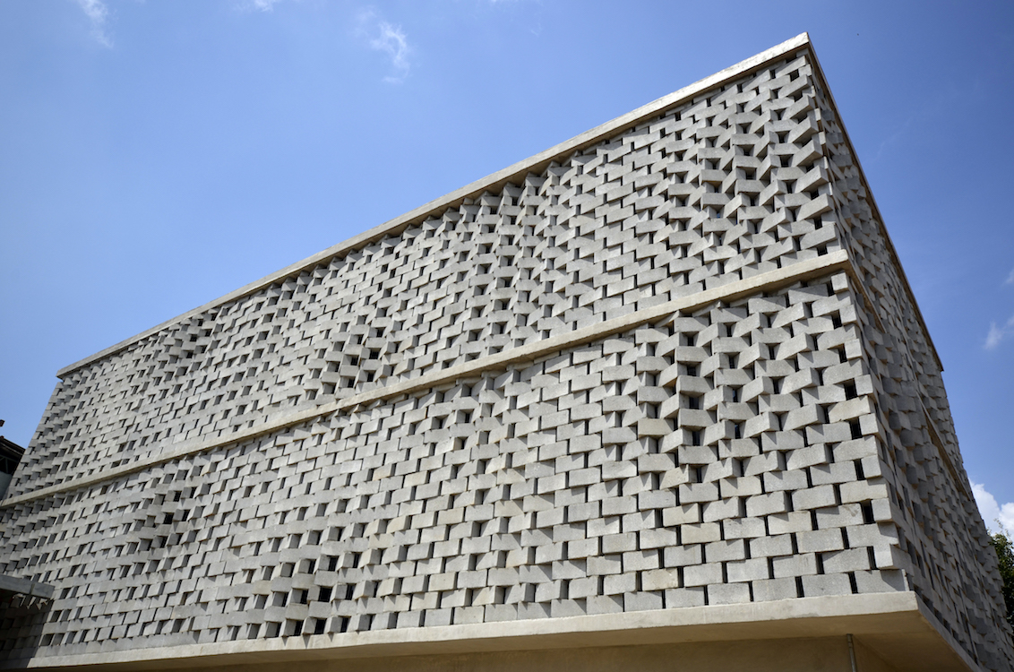 Facade: Rotating Concrete Block Facade By SUBdv Is A Product Of