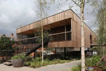 dRMM Architects' Maggie's Oldham opens as world's first building made from hardwood CLT