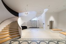 Designs by maber architects featuring a stunning spiral staircase inspired by ammonites have transformed the entrance to a Victorian Leicester city museum.