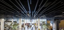 Hunter Douglas has played a key role in the development of Amsterdam's Schiphol Airport where the ceiling system in the main halls, feature their range of BXD linear ceiling panels.