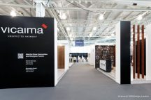 Both Vicaima exhibition stands at 100% Design Show