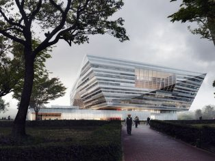 Schmidt Hammer Lassen Architects have revealed new visuals of the Shanghai East Library. In 2016, the practice won a three stage international competition to design the new public library that will sit adjacent to Century Park in the east part of the city