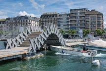 Jet d'EAU - 2017 Structural Award for Pedestrian Bridges © Gabriele Guscetti, Etienne Bouleau, Jerome Pochat