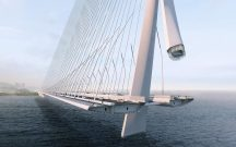 Danjiang Bridge by Zaha Hadid Architects. Render by VA