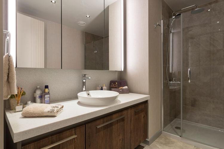 A modern flat flourishing with elegant details ...