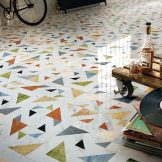 Lithos Design's opus collection has a number of variations including Allegro which has wonderful terrazzo qualities
